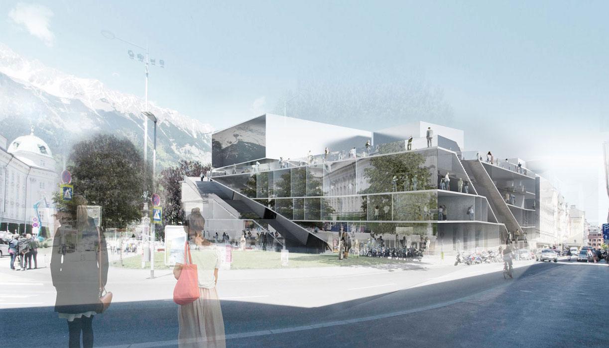 Haus der musik in innsbruck wettbewerbe architekt daniel for Architektur innsbruck